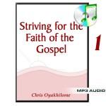 Striving For The Faith of The Gospel